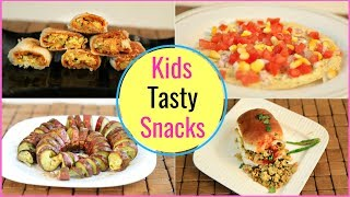 5 TASTY Snacks For KIDS During EXAMS Time - Quick & Healthy Lunch/Evening Recipes | CookWithNisha