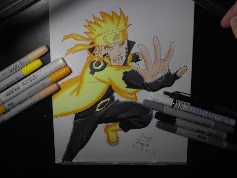 Drawing Naruto Sage of Six Paths Mode Naruto Shippuden