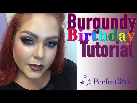 Burgundy Birthday Makeup Tutorial Featuring Krista McAulay