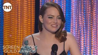 <b>Emma Stone</b> Acceptance Speech  23rd Annual SAG Awards  TNT