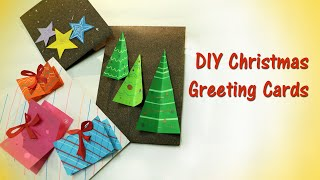 DIY Christmas greeting cards - part 2 | How to make simple and easy Christmas cards | Xmas Crafts