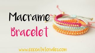 DIY How To Make Summer Macrame  Bracelets So Easy