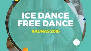Nguyen Avonley /Kolesnik  Vadym (USA)   Ice Dance Free Dance   Kaunas 2018