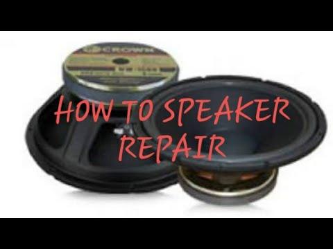 HOW TO REPAIR SPEAKER??? TAGALOG