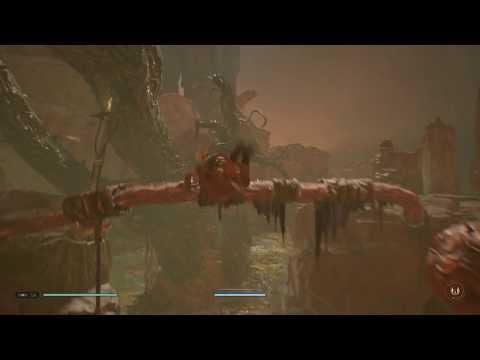 Star Wars Jedi Fallen Order Sacrifice Swamp Walkthrough Use Jedi Flip On Moving Wall Climb Out