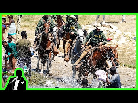Border Patrol WHIPS Haitian Migrants With Horse Reins