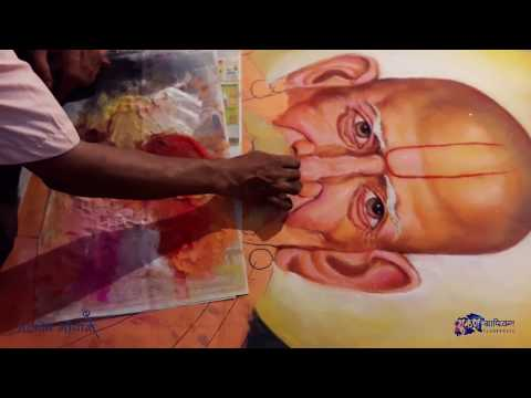 mahadev gopale portrait rangoli design by mukesh graphics