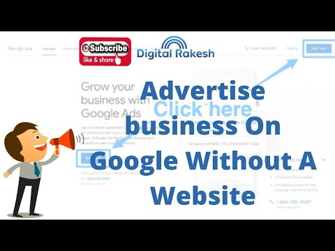 How do I create an Ads account without a website