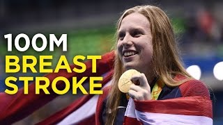 Lilly King wins gold in 100M breast stroke | Rio Olympics 2016 thumbnail