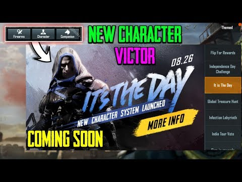 """New Character """"Victor"""" Is coming In Pubg Mobile - New Outfit & Voice Chat"""