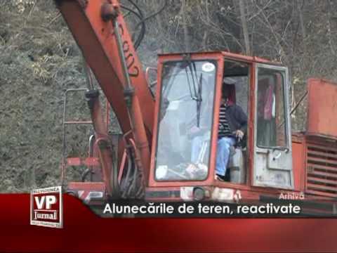 Alunecările de teren, reactivate