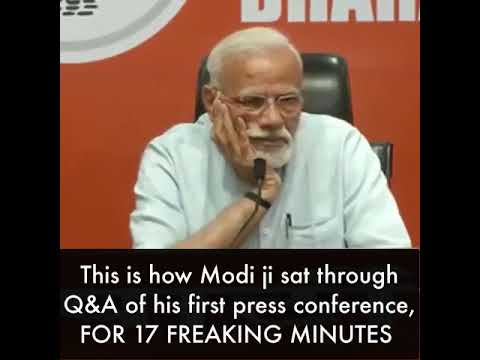 Modi getting bored in his press confrence