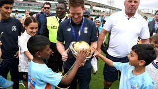 video: England celebrate winning the 2019 Cricket World Cup final at The Oval