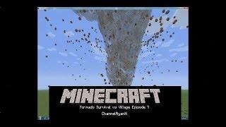 Minecraft Tornado Survival VS. Village Episode 7 - New Skin!!