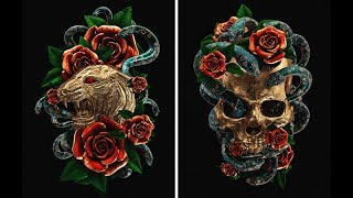 Reimagined Traditional Tattoos As 3D Illustrations!!