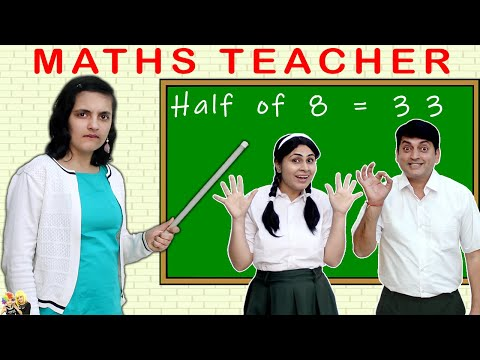 MATHS TEACHER #Comedy Types of students in Maths class | Aayu and Pihu Show
