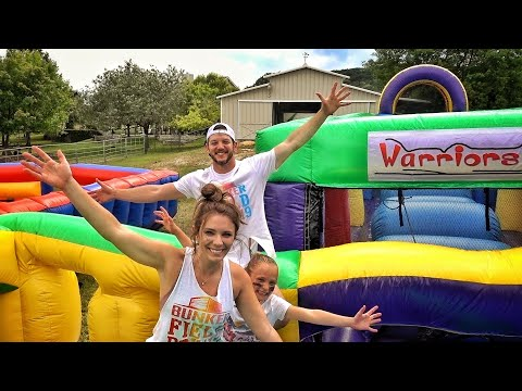 Our Backyard Is A Bounce House!!!