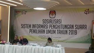 Sosialisasi Aplikasi Situng Pemilu Serentak 2019 oleh KPU RI