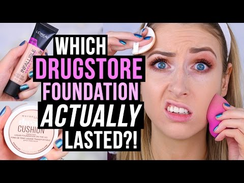 TESTING NEW DRUGSTORE FOUNDATIONS || L'Oreal Total Cover vs. Maybelline Dream Cushion?!
