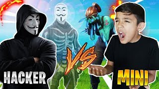 Invisible Hacker In Fortnite Trolls My Little Brother! He RAGED