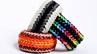 Snake Belly 1 Loom - Advanced Rainbow Loom Bracelet - Hardest Design