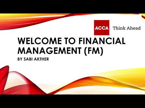 ACCA Financial Management (FM) Syllabus 2021 - YouTube