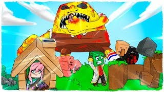 👉 BOB ESPONJA.EXE VS BASE PRO - MINECRAFT