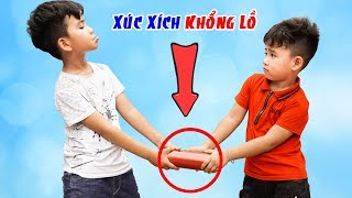 Cây Xúc Xích Khổng Lồ Và Em Bé Tham Lam ♥ Min Min TV Minh Khoa