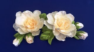 Ribbon Flowers.Gardenia/Flores De Cintas.Gardenia/Цветы из лент.Гардения
