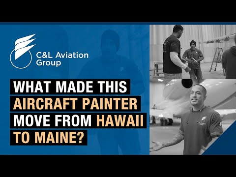 What made this aircraft painter move from Hawaii to Maine?