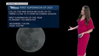 Look up for the Super Pink Moon tonight!