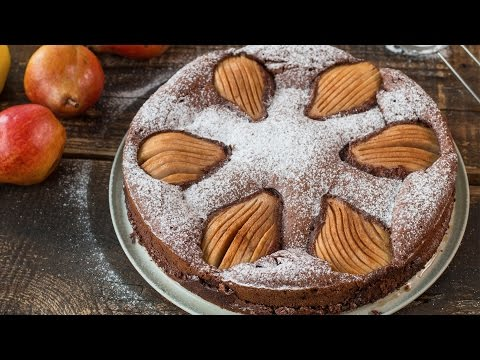 Video Almond Chocolate Pear Cake Recipe