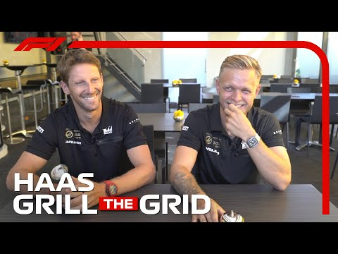 Haas' Romain Grosjean and Kevin Magnussen! | Grill The Grid 2019