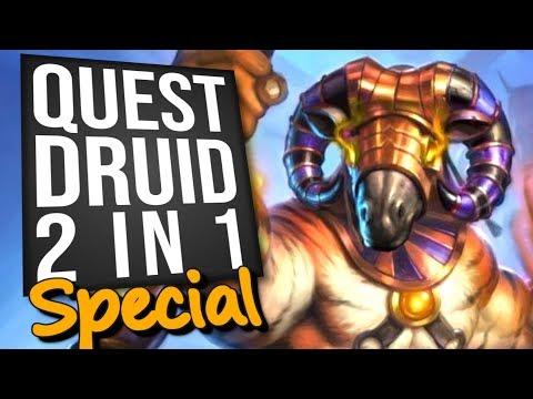 2 in 1 Quest Druid Special - Feat. King Phaoris! | Standard | Hearthstone