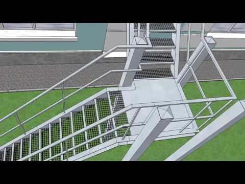 Пожарная лестница 4м