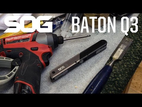 2019 SOG Baton Q3 Black and Grey Anodized at Harsh Outdoors, Eaton, CO 80615