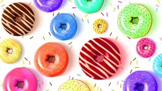 Yummy Donut Treat with colored delicious toppings for Children by HooplaKidz