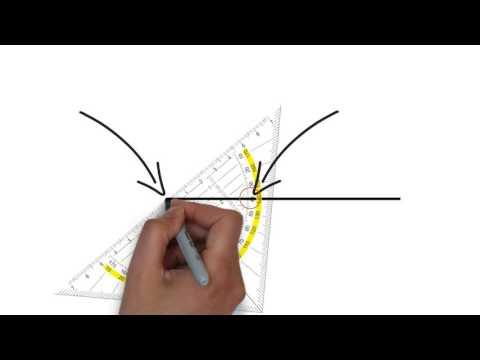 Winkel zeichnen - Wir zeichnen Winkel mit dem Geodreieck