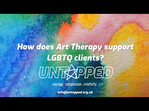 How does art therapy support LGBTQ clients?