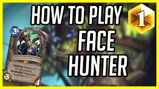 (Hearthstone Legend) How Did I Win That? | How to Play Face Hunter | Ashes of Outland