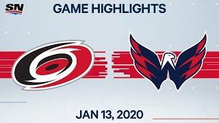 NHL Highlights   Hurricanes vs. Capitals – Jan. 13, 2020