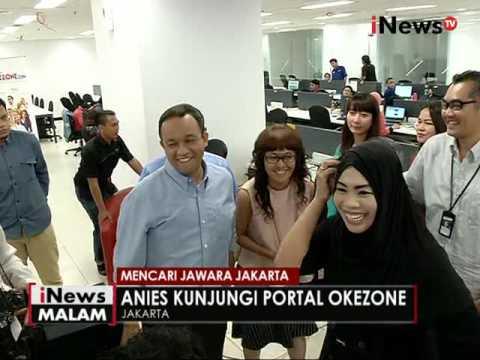 Anies Baswedan kunjungi portal Okezone - iNews Malam 13/10