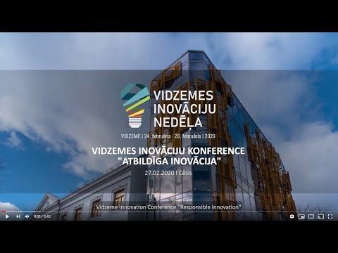 """Vidzemes inovāciju konference 2020 """"Atbildīga inovācija"""" (atskata video)"""