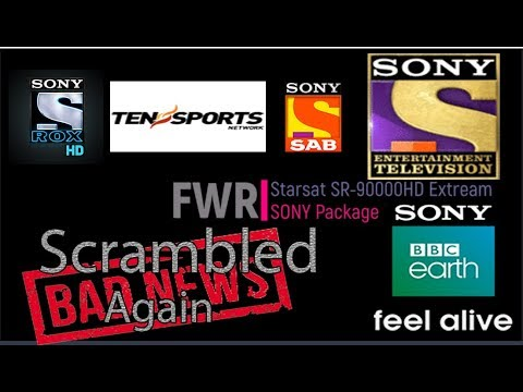 FWR Starsat Dish TV India on NSS 6 at 95 0°E SONY and SOnY MAX HD