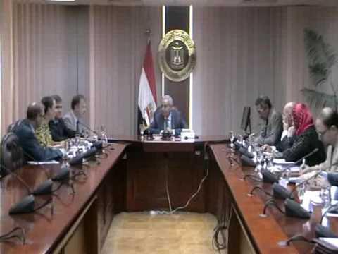 لقاء الوزير / طارق قابيل مع وفد منظمة العمل الدولية