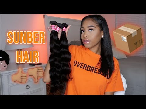 NEW BUNDLES??! Sunber Hair Unboxing and First Impressions