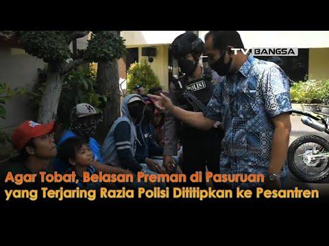 Agar Tobat, Belasan Preman di Pasuruan yang Terjaring Razia Polisi Dititipkan ke Pesantren
