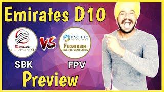 SBK vs FPV | Emirates D10 League 2020 | ICC Academy Dubai Pitch Report | Dream11 | Prediction
