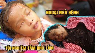 Dẫn Tâm Như bé mù lên Sài Gòn nhận quà, bà ngoại ngả bệnh nằm dưới đất
