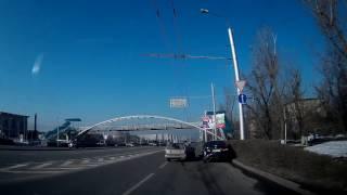 Алматы. ДТП на Саина.